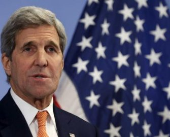 John Kerry  for talks on security, human rights